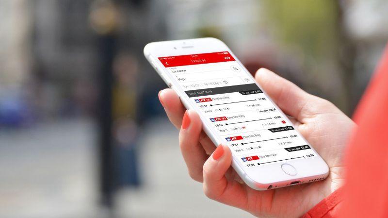 Les prix dégriffés visibles sur l'app Mobile CFF