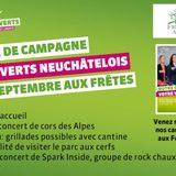 Fête de campagne des Verts neuchâtelois
