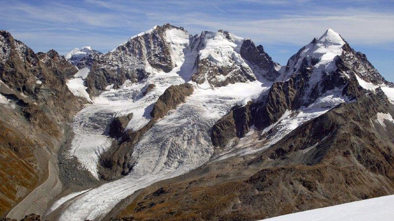 L'alpiniste allemande a fait une chute de 100 mètres lors de l'ascension du Piz Roseg, dans lesGrisons. (archives)