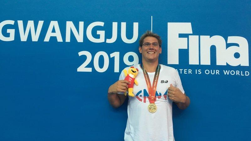 Julien Baillod a fini ses Mondiaux avec le sourire et deux nouvelles médailles d'or.