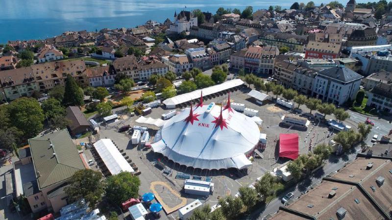 Le cirque Knie s'installe ce week-end sur la place Perdtemps.