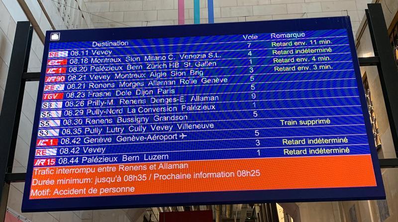 Plusieurs trains sont supprimés, ce mercredi matin.