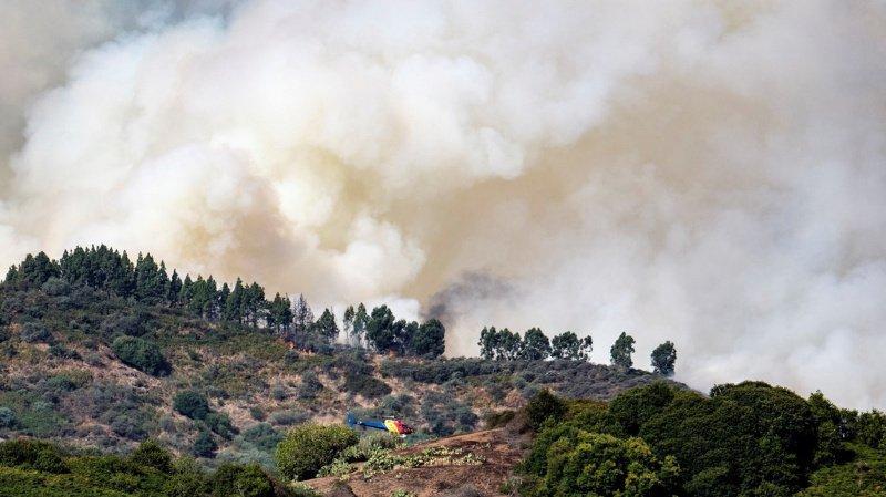 Espagne: violent incendie sur l'île de Grande Canarie, 5000 personnes évacuées