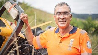 Carlos Silva, cantonnier à Bursins: «On m'a déjà frôlé à ras les bottes»