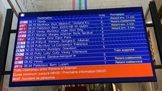 Accident à Morges: trains paralysés durant une bonne partie de la matinée