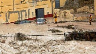 Pluies diluviennes et inondations en Espagne