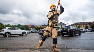 Nyon: un artiste au chevet du parking de Perdtemps