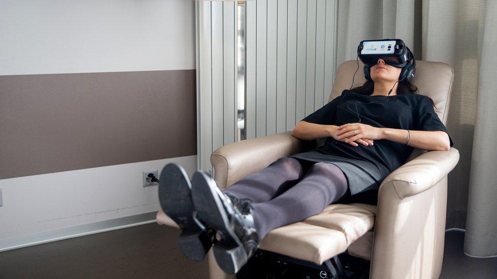 L'immersion dans le programme concocté par HypnoVR est totale grâce à la réalité virtuelle.