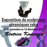 Exposition de sculptures céramiques raku