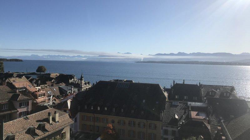 La fumée a été visible depuis Nyon.