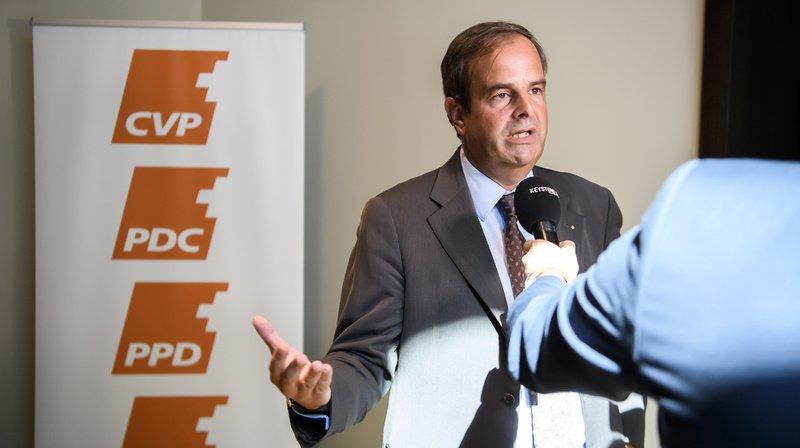 Gerhard Pfister, président du PDC, s'est exprimé vendredi à Berne au sujet de la campagne en ligne controversée de son parti.