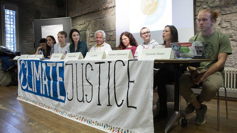 """Le mouvement """"Strike for Future"""" a organisé mardi une conférence de presse à Berne."""