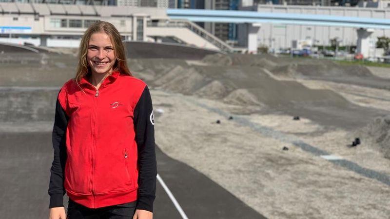 Zoé Claessens a pu enchaîner les tours sur la piste olympique.