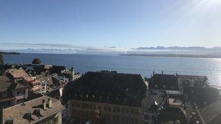 France voisine: grosse colonne de fumée au bord du Léman