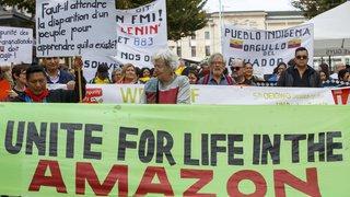 Amazonie: manifestation à Genève face à l'accord de libre-échange entre l'AELE et le Mercosur
