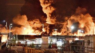 Incendie dans une usine Seveso de Rouen