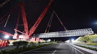Bursins: le pont sur l'A1 a été remplacé en sept heures
