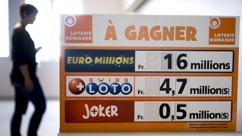 Loterie: le Swiss Loto consacre un nouveau multimillionnaire