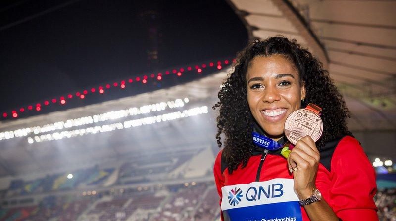 Mujinga Kambundji a été la première sprinteuse suisse à décrocher une médaille aux championnats du monde. (archives)