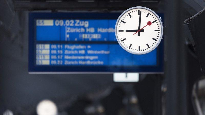 Horaires assouplis, information améliorée: Les CFF s'attellent au problème de la ponctualité