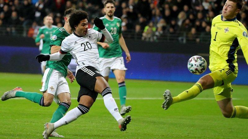 A l'image de Serge Gnabry (n°20), l'Allemagne s'est montrée offensive face à l'Irlande du Nord.