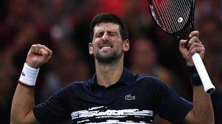 Tennis: Djokovic bat facilement Shapovalov et s'adjuge un 5e titre à Paris-Bercy