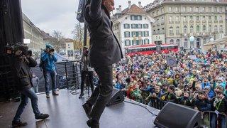Droits de l'enfant: près de 850 enfants et adolescents réunis sur la Place fédérale à Berne