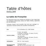 """Table d'hôtes """"La table de Françoise"""""""