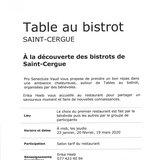 Table au bistrot à Saint-Cergue