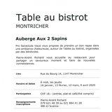 Table au bistrot à Montricher