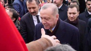 Le président turc est arrivé à Genève