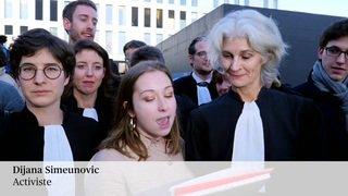 Les 12 activistes climatiques acquittés à Renens