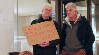 Lausanne: les activistes climatiques dans l'UBS
