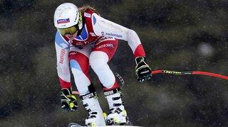 Ski alpin: Corinne Suter cinquième de la descente de Lake Louise, succès de Nicole Schmidhofer
