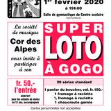 Loto à gogo Société de musique le Cor des Alpes