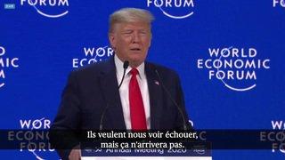 "WEF 2020: Davos Trump fustige les ""prophètes de malheur"" devant Greta Thunberg"
