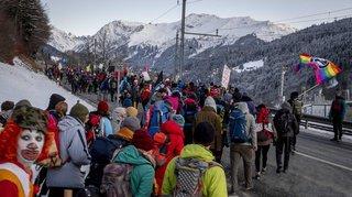 WEF 2020: les activistes du climat manifestent à Davos dans une ambiance bon enfant
