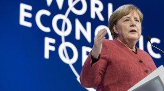 WEF 2020: Angela Merkel tance Donald Trump sur l'OMC sans le nommer